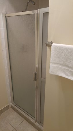 Tiki Lodge Motel: Shower stall