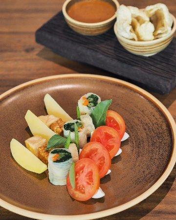 """Gado-Gado"" is the famous Indonesian salad with peanut sauce."