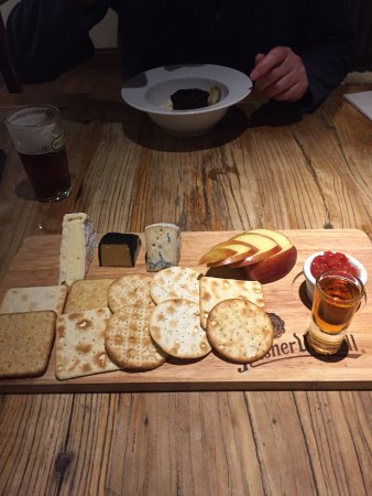 The Plough Inn: Tasty , large cheese board. We shared.