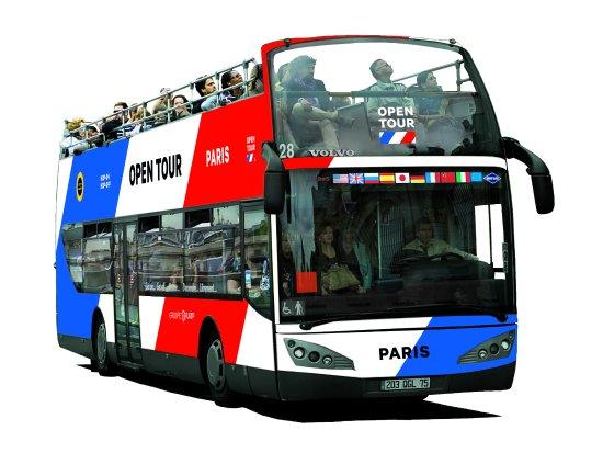 Open Tour Paris : New Open Tour bus color