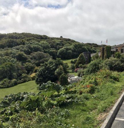 Abbeyglen Castle Hotel: Lo exteriores vistos desde el aparcamiento