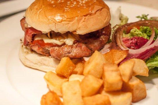 Never go wrong with El Mesón's Ultimate Pork Burger.