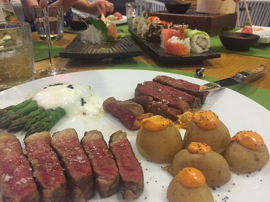 Great sushi, steak and deserts