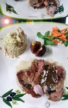 manzo con riso, beef with rice, mish vici me rizoto