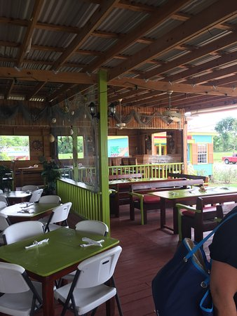 Lime Beach Bar: Great Caribbean ambience, colorful decor and the best grilled grouper with a basil garlic drizzl