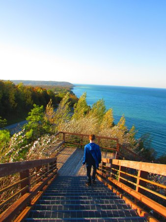 Onekama, MI: Just down the road at Arcadia scenic overlook