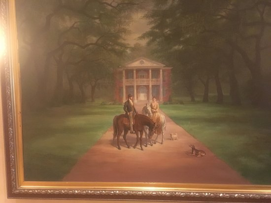 Natchez Grand Hotel: painting across from first-floor elevators