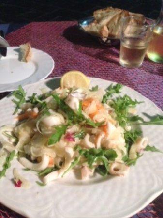 Ristorante O'Puledrone: Seafood salad