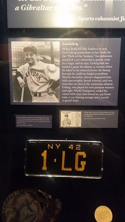 National Baseball Hall of Fame and Museum: One of the displays :)