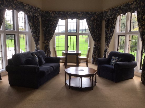 Barham, UK: Our suite at the back of the mansion, second floor, part of the large bedroom, beautiful views.
