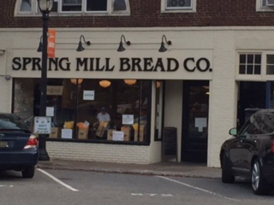 Wayne, PA: View of Spring Mill from Lancaster Ave