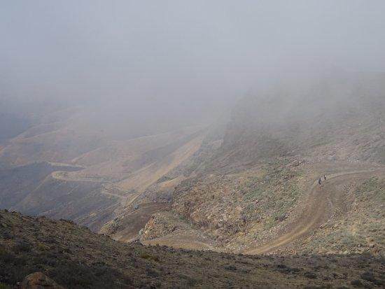 Sani Pass, Lesotho: vue du restaurant