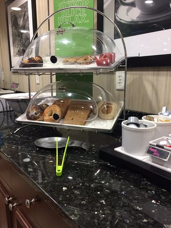 Hampton Inn by Hilton Bangor: A sampling of some of what was offered at breakfast