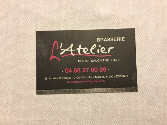 Lezignan-Corbieres, Frankrijk: Brasserie L'Atelier