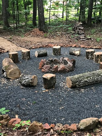 Uphill House Bed & Breakfast: One of THREE fire pits!