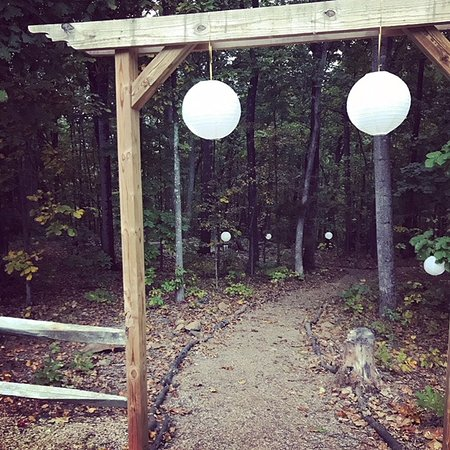 Uphill House Bed & Breakfast: Our woods make the perfect backdrop to any event!