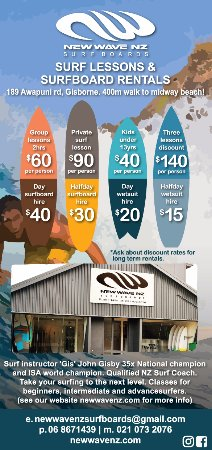 New Wave NZ Surfboards: Surf lessons and surf board hire Gisborne NZ