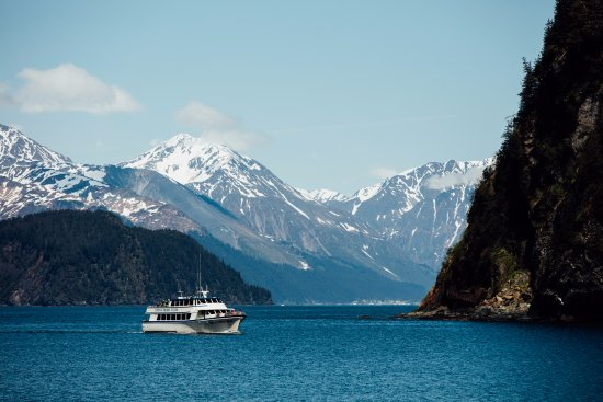 Kenai Fjords Wilderness Lodge: Arrive at Fox Island by a Kenai Fjords Tours vessel.