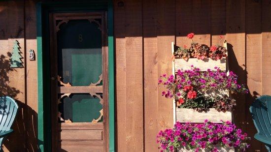 Dwight Village Motel: flowers by the door