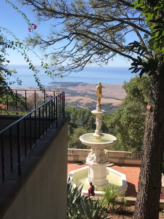 Hearst Castle: View from beside one of the cottages