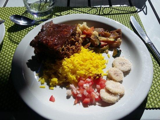 The Restaurant At Neethlingshof: um dos pratos do almoço