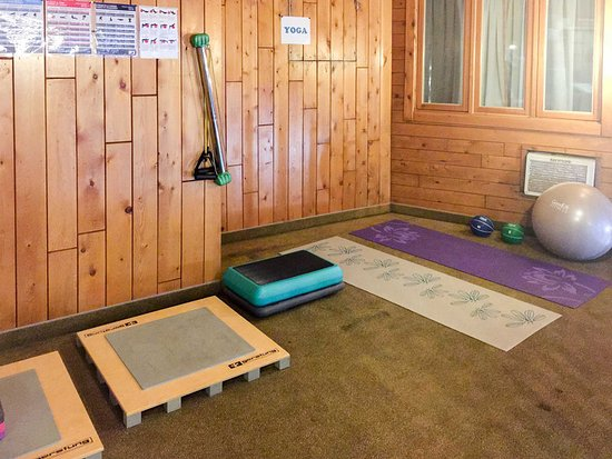 แกรนด์ฟอลส์, แคนาดา: Hotel yoga room