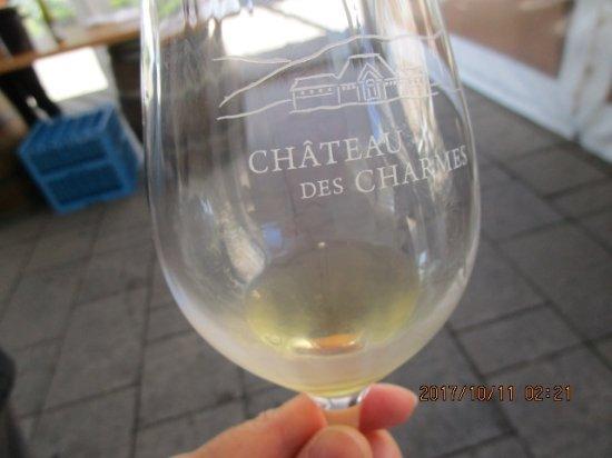 Chateau des Charmes, ワインの試飲(白ワイン)
