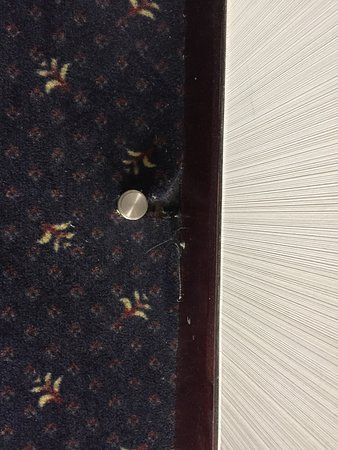 The Bund Hotel: Carpet separated from the base boards..smh