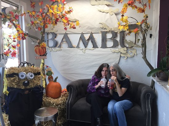 Canton, MA: Everyone has their pic taken beneath the bambu sign.