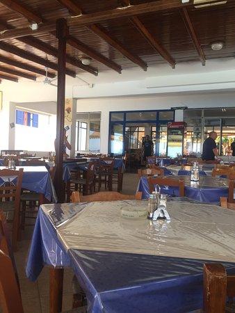 Agia Roumeli, Greece: Dettaglio della terrazza del ristorante