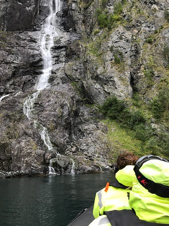 Balestrand, Norway: Enjoying the natural beauty of the fjords up close and personal.