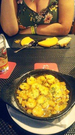 Restaurante Grill La Vaca Loca : Garlic prawns
