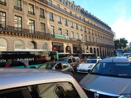 roissy bus stop on rue scribe a short walk from the hotel picture of residhome paris opera. Black Bedroom Furniture Sets. Home Design Ideas