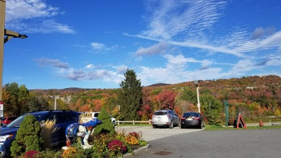 Dover, VT: A view from the parking lot of the Grand Summit Hotel and Conference Center during foliage seaso