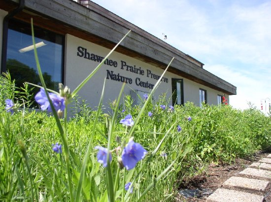 Greenville, OH: The front gardens of the Nature Center represent a native prairie