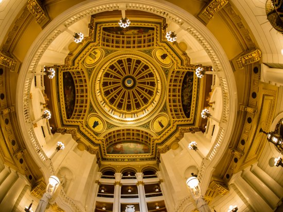 Pennsylvania State Capitol: Rotunda dome.