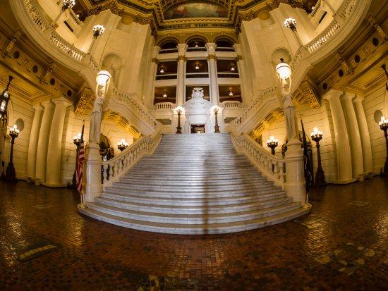 Pennsylvania State Capitol: Rotunda stairs