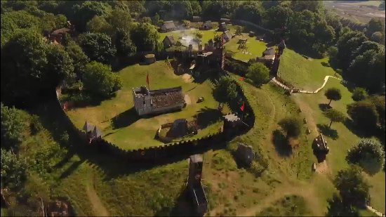 Stansted Mountfitchet, UK: Aerial photo of mountfitchet castle