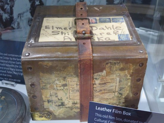 Nome, AK: Leather film box mailed to Shismaref, AK