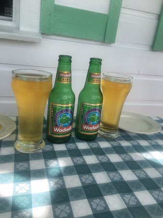 Hemingways Caribbean Cafe: Wadadli, the local beer!