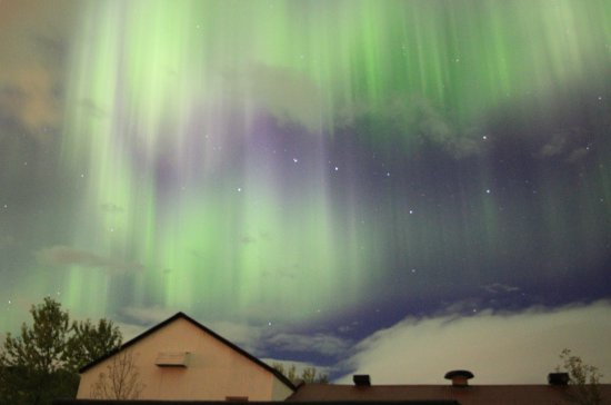 Minna-Mosfell Guesthouse: The night sky during our stay