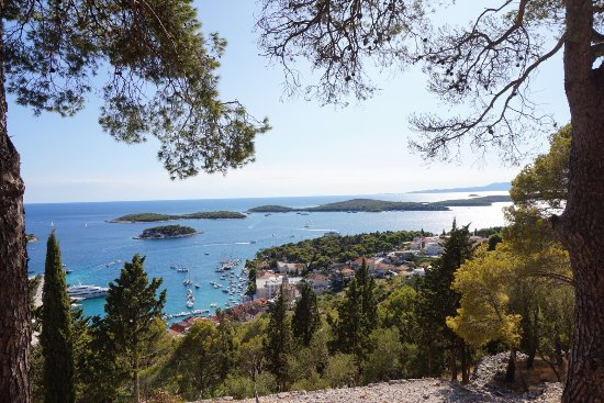 Fortaleza de Hvar: From the top of the hill at the Fortress
