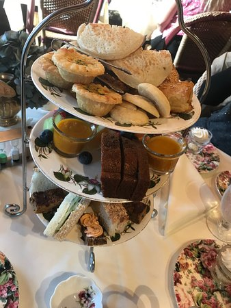 Queen Mary Tea: Afternoon Tea (after we took a few pieces from it)