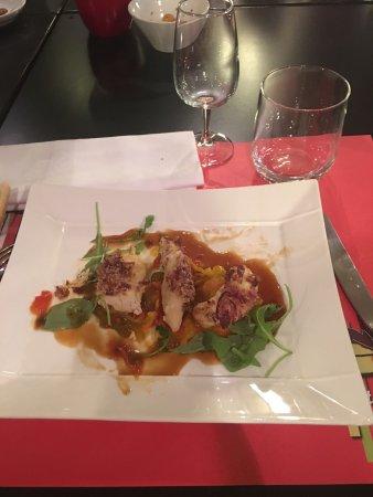 Dommartemont, France: Nem de banane flambé/magret de canard/ aiguillettes de volaille croûte bacon 🥓