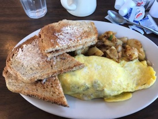 Ludlow, VT: ABC Omelet, Home Fries and Oven Baked Toast