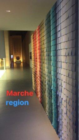 Poltrona Frau Museum : Pantone che rappresentano la regione Marche