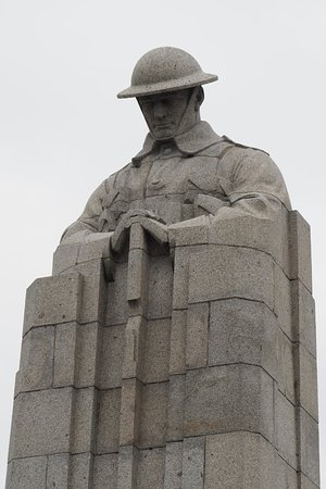 Miraumont, France: Brooding Soldier Memorial, Vancouver Corner, near Ypres