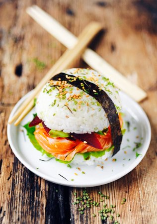 Senlis, ฝรั่งเศส: Nouveaux chez Love sushi'c burger sushi