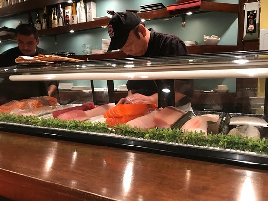 Kanpai Sushi: Great for everyone. Healthy, fresh and tasty.  One block north of University Avenue / Bryant Ave