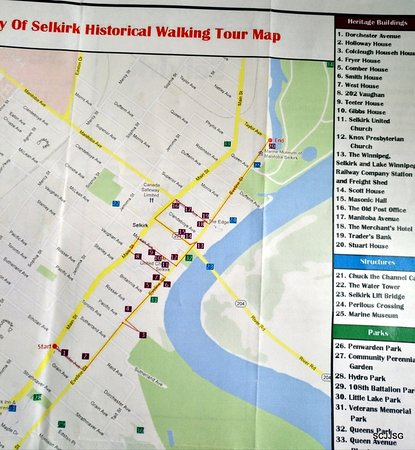 Selkirk walking tour map